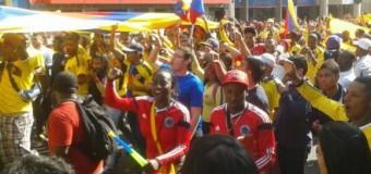 Miles de colombianos celebraron triunfo de la selección en Antofagasta