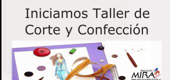 Iniciamos primer taller de corte y confección de la Asociación MIRA Chile